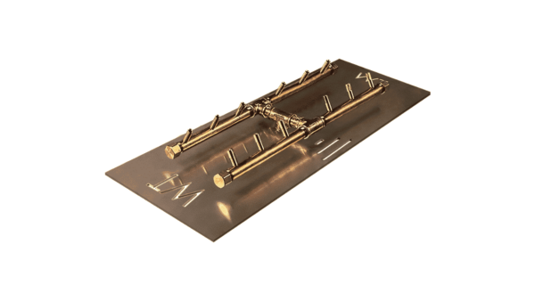 """H-Style Burner: 120,000 BTU Warming Trends Crossfire - For 28"""" x 15"""" Opening or Larger"""
