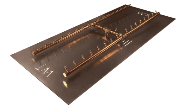 """H-Style Burner: 340,000 BTU Warming Trends Crossfire - For 62"""" x 25"""" Opening or Larger"""