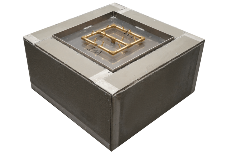 Ready to Finish Fire Pit Kit with Crossfire Burner - SQUARE