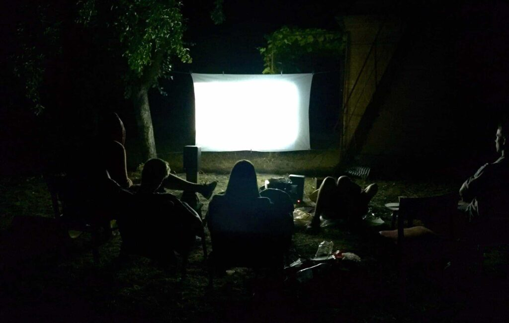 Outdoor Movie Night at the Fire Pit Party