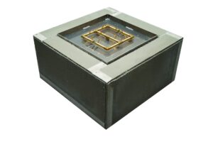 Standard Ready to Finish Fire Pit Enclosure with Crossfire Burner - SQUARE