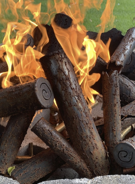 Steel Gas Fire Pit Log Sets