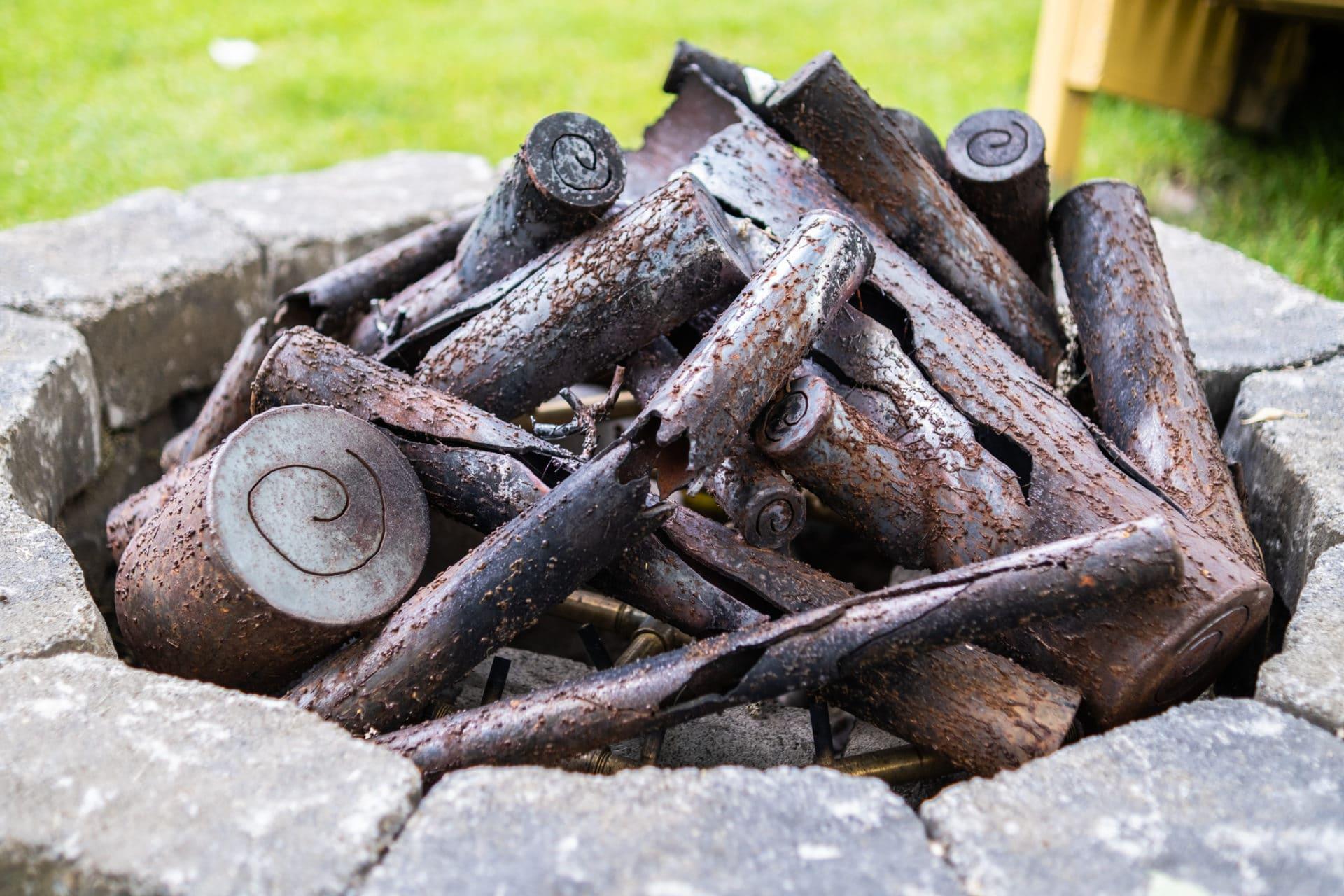 steel logs 18 inch