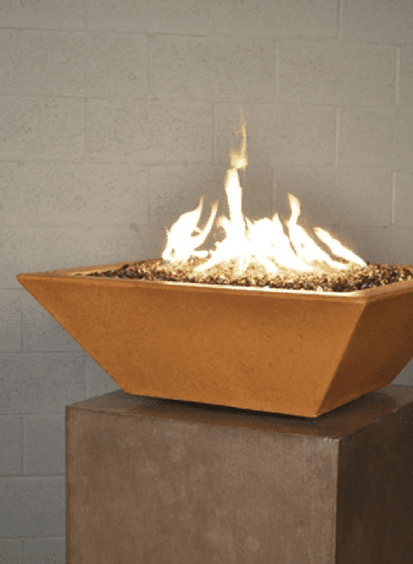 Geo Square Fire Bowl