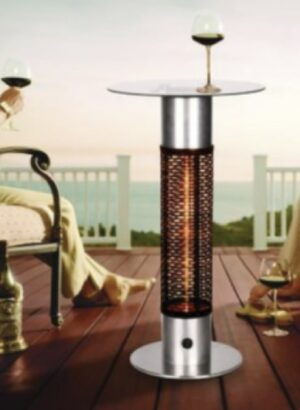 Short Bistro Table with Electric Infrared Heater
