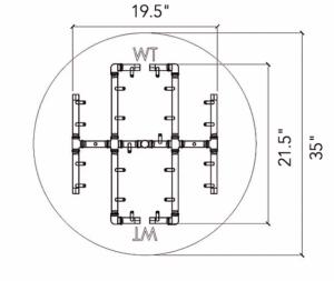 """Universal Paver Kit for 35"""" - 37"""" Circular Opening"""