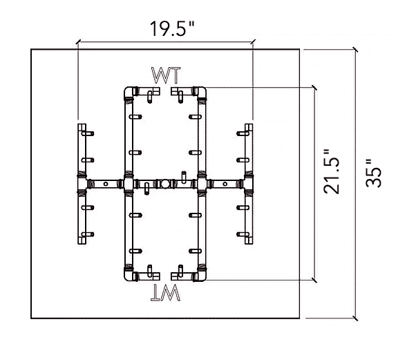 """Universal Paver Kit for 35"""" - 37"""" Square Opening"""