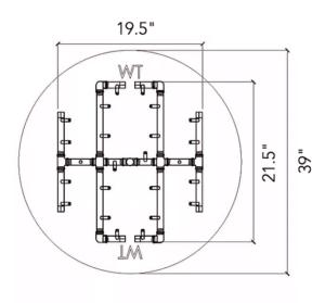 """Universal Paver Kit for 39"""" - 41"""" Circular Opening"""