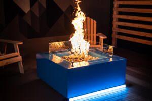 Glacier Steel Fire Table