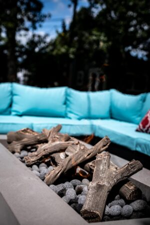Driftwood Linear Log Set for Rectangular Fire Pits