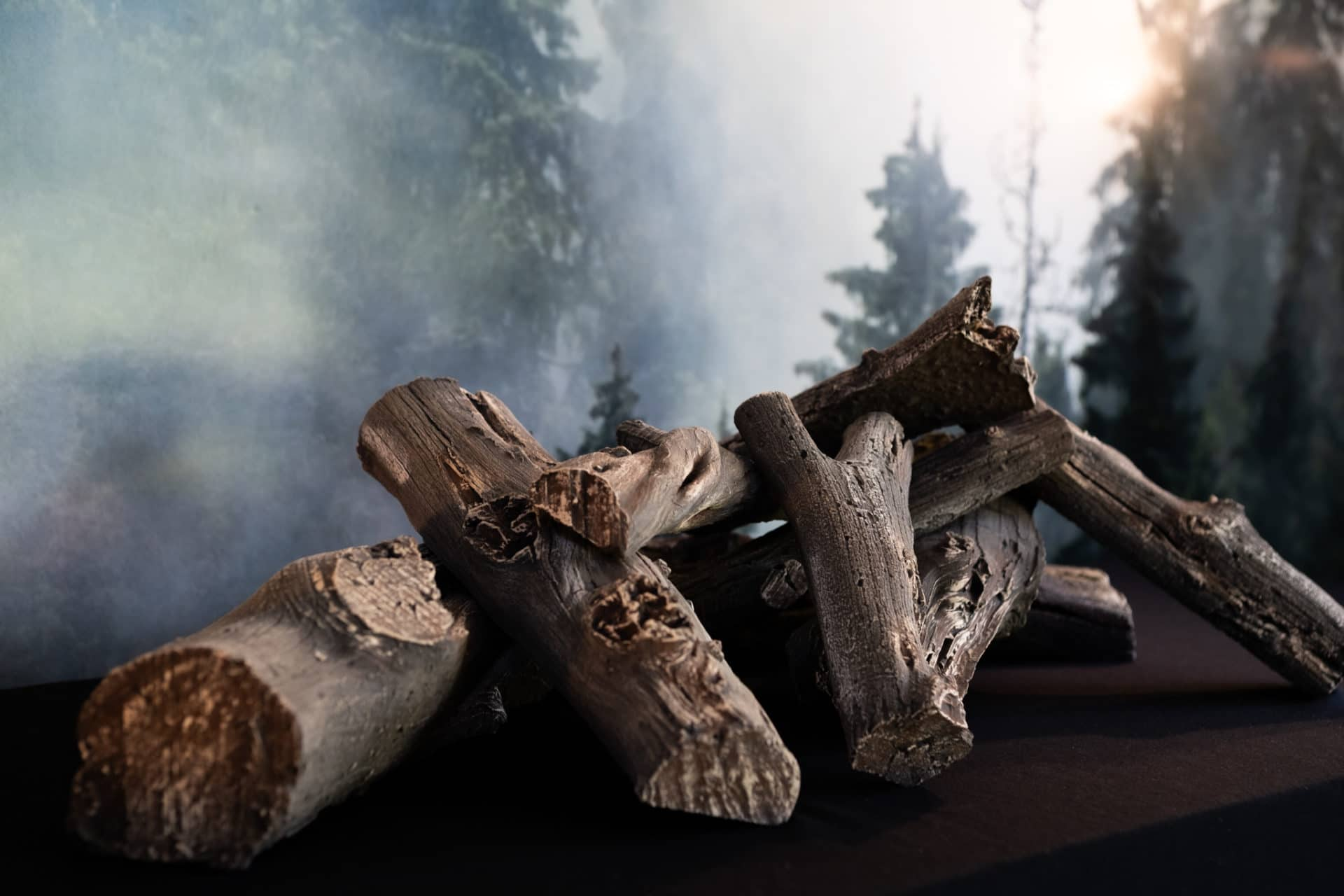 Driftwood Linear Log Set for Rectangular Fire Pits
