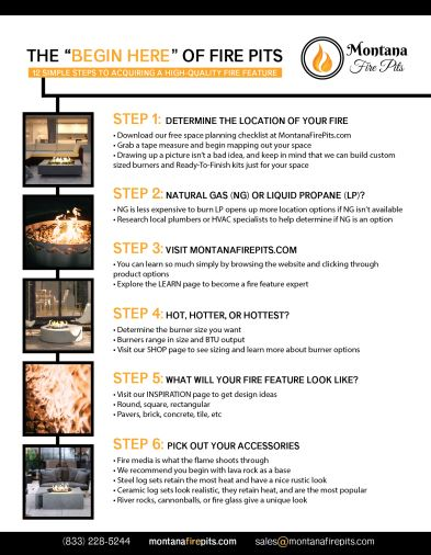 12 Steps to build a fire feature