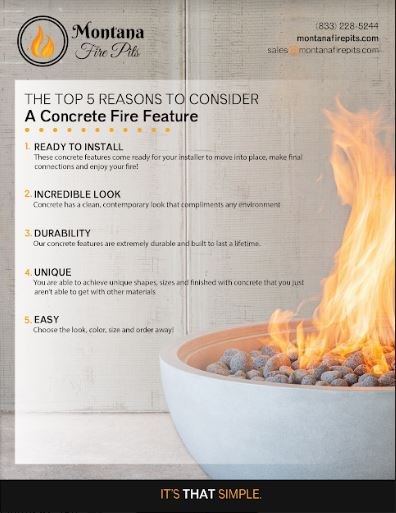 Top 5 Reasons to Consider a Concrete Fire Feature
