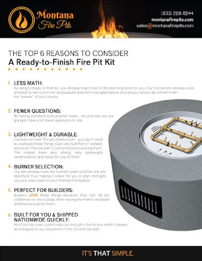 Top 6 Reasons to Consider a Ready-to-Finish Fire Pit Kit