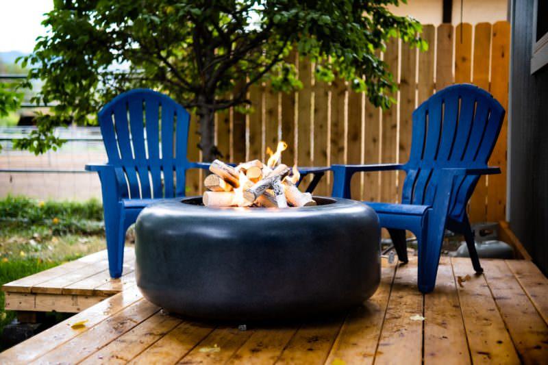 Oblica Round Fire Table